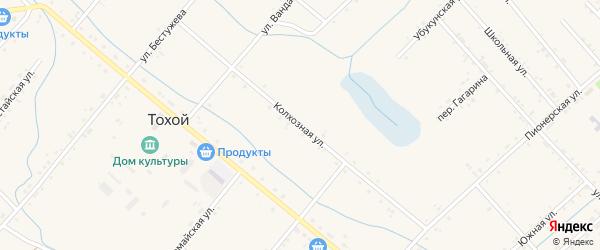Колхозная улица на карте Тохой улуса с номерами домов
