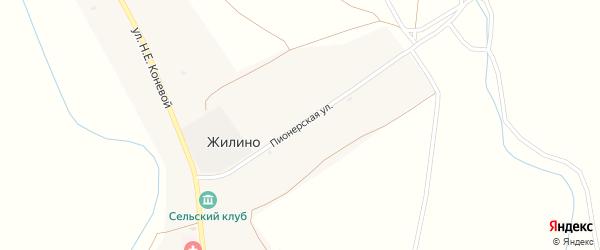 Пионерская улица на карте села Жилино с номерами домов
