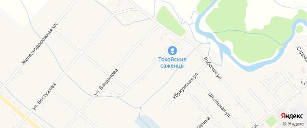 Первомайская улица на карте Тохой улуса с номерами домов