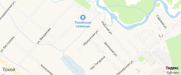Убукунская улица на карте Тохой улуса с номерами домов