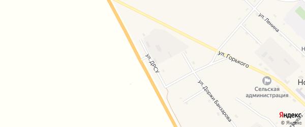 Улица ДРСУ на карте поселка Новоселенгинска с номерами домов