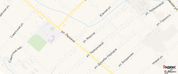 Улица Фрунзе на карте Тохой улуса с номерами домов