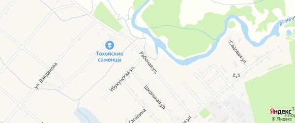 Рабочая улица на карте Тохой улуса с номерами домов