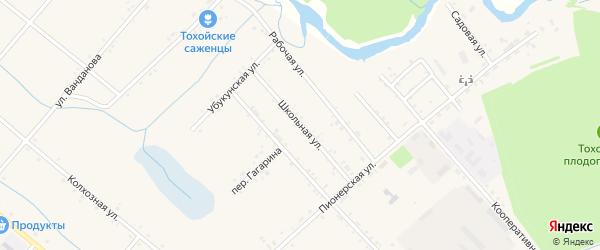 Школьная улица на карте Тохой улуса с номерами домов