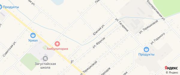 Южная улица на карте Тохой улуса с номерами домов