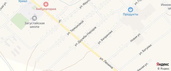 Улица Дружба Народов на карте Тохой улуса с номерами домов