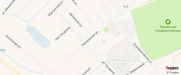 Пионерская улица на карте Тохой улуса с номерами домов