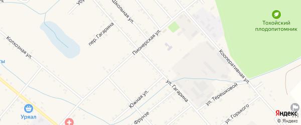 Улица Гагарина на карте Тохой улуса с номерами домов