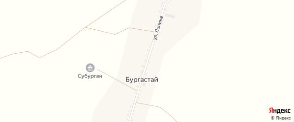 Улица Ленина на карте улуса Бургастай с номерами домов