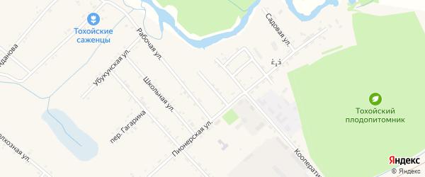 Улица Специалистов на карте Тохой улуса с номерами домов