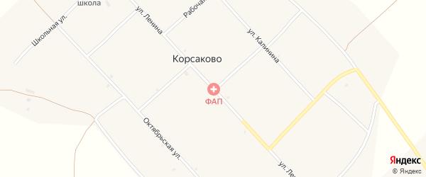 Улица Ленина на карте села Корсаково с номерами домов