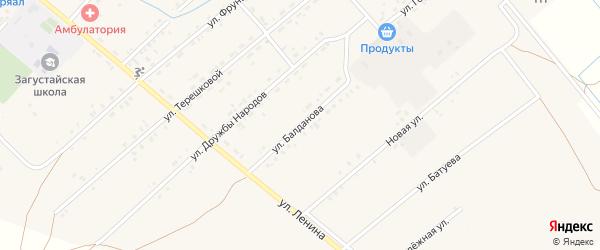Улица Балданова на карте Тохой улуса с номерами домов