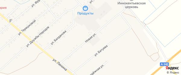 Новая улица на карте Тохой улуса с номерами домов