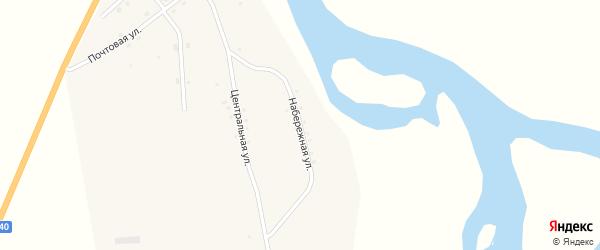 Набережная улица на карте поселка Поворота с номерами домов