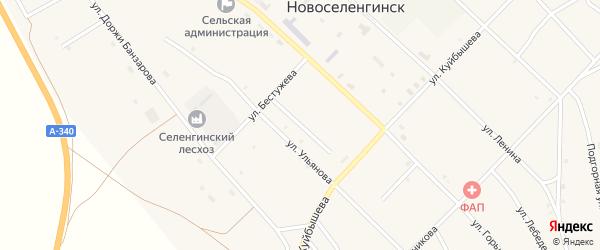 Гражданский переулок на карте поселка Новоселенгинска с номерами домов