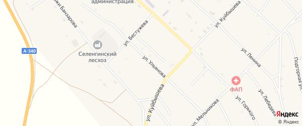 Улица Ульянова на карте поселка Новоселенгинска с номерами домов