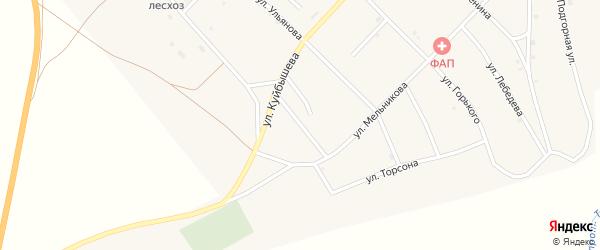 Комсомольская улица на карте поселка Новоселенгинска с номерами домов