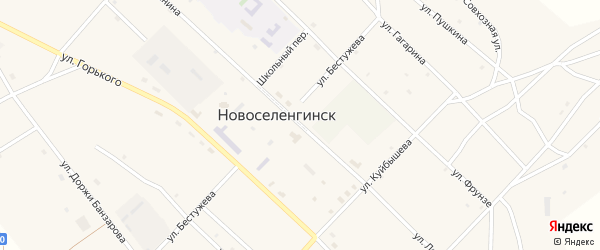 Улица Ленина на карте поселка Новоселенгинска с номерами домов