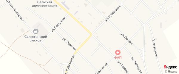 Улица Куйбышева на карте поселка Новоселенгинска с номерами домов