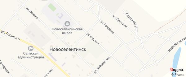 Улица Фрунзе на карте поселка Новоселенгинска с номерами домов