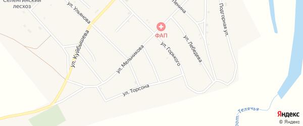 Переулок Лесничества на карте поселка Новоселенгинска с номерами домов
