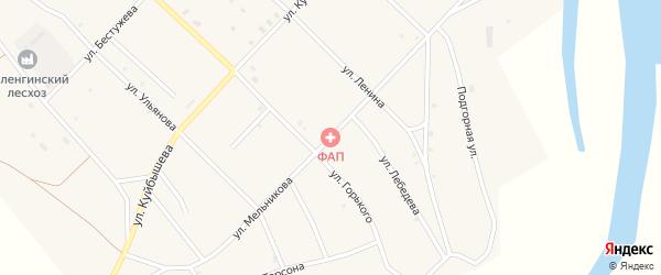 Улица Мельникова на карте поселка Новоселенгинска с номерами домов