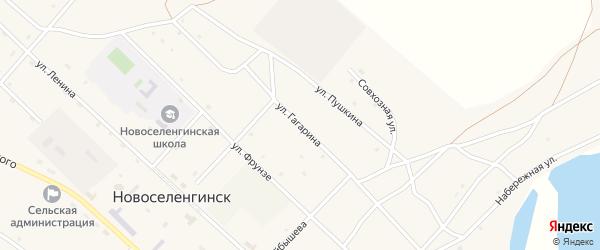Улица Гагарина на карте поселка Новоселенгинска с номерами домов