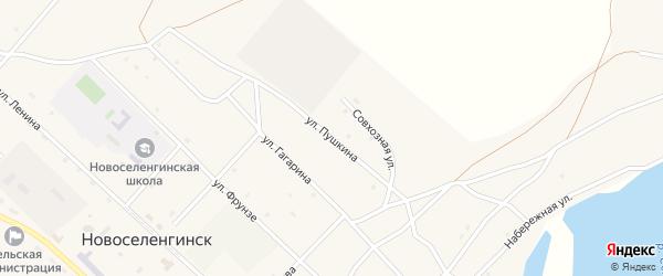 Новая улица на карте поселка Новоселенгинска с номерами домов