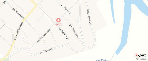 Улица Лебедева на карте поселка Новоселенгинска с номерами домов