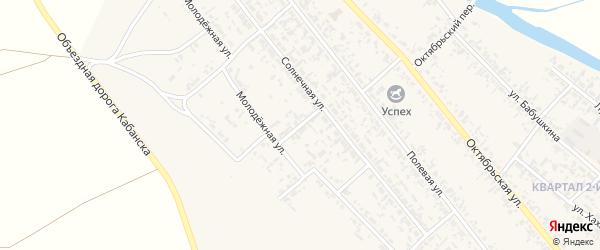 Солнечный переулок на карте села Кабанск с номерами домов