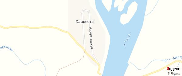 Набережная улица на карте улуса Харьяста с номерами домов