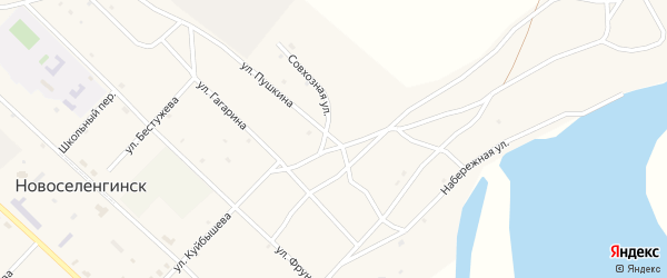 Улица Пушкина на карте поселка Новоселенгинска с номерами домов