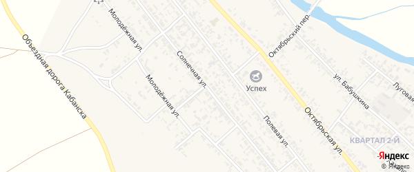 Солнечная улица на карте села Кабанск с номерами домов