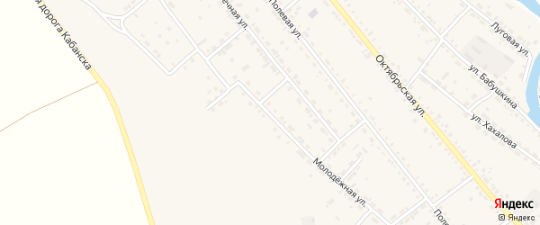 Молодежная улица на карте села Кабанск с номерами домов