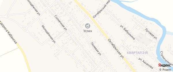 Полевая улица на карте села Кабанск с номерами домов