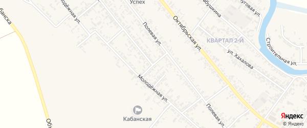 Молодежный переулок на карте села Кабанск с номерами домов