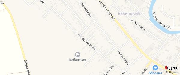 Переулок Мелиораторов на карте села Кабанск с номерами домов