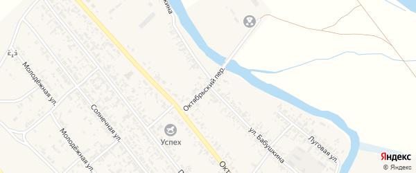 Октябрьский переулок на карте села Кабанск с номерами домов