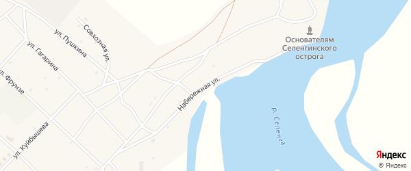 Набережная улица на карте поселка Новоселенгинска с номерами домов