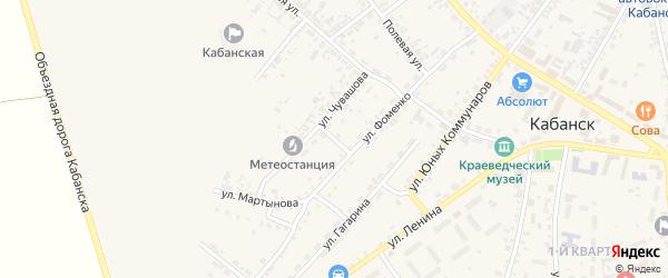 Переулок Чувашова на карте села Кабанск с номерами домов