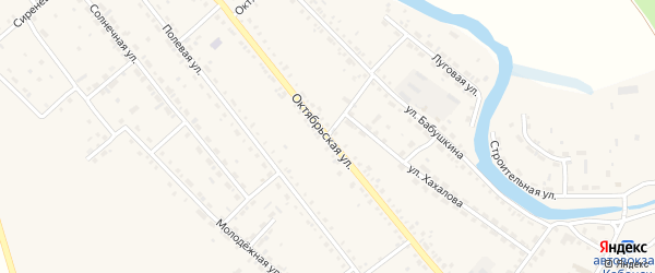 Октябрьская улица на карте села Кабанск с номерами домов