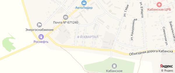 4-й квартал на карте села Кабанск с номерами домов
