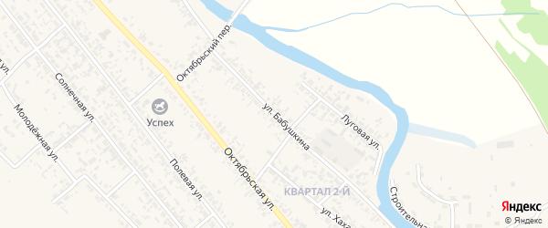 Улица Бабушкина на карте села Кабанск с номерами домов