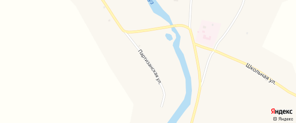 Партизанская улица на карте села Кудары с номерами домов