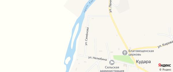 Улица Семенова на карте села Кудары с номерами домов