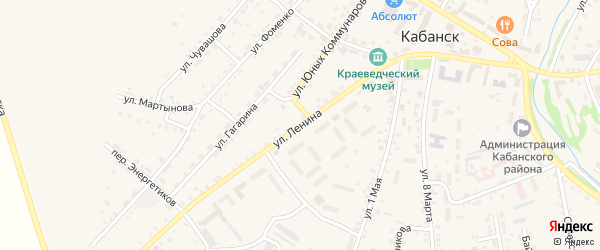 Улица Ленина на карте села Кабанск с номерами домов