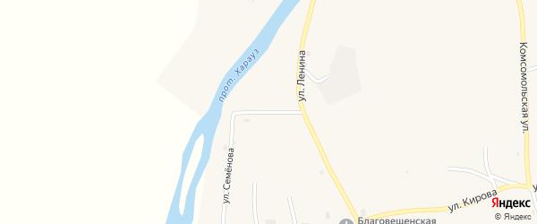 Трудовая улица на карте села Кудары с номерами домов