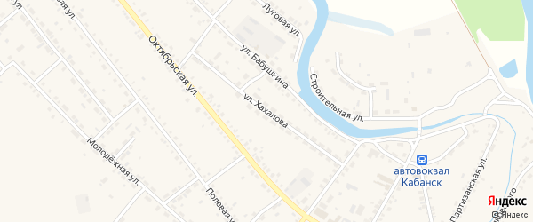 Улица Хахалова на карте села Кабанск с номерами домов