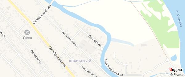 Луговая улица на карте села Кабанск с номерами домов