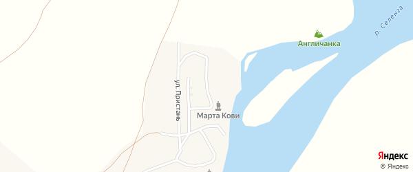 Улица Пристань на карте поселка Новоселенгинска с номерами домов